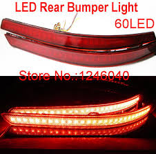 2013 kia optima led fog light bulb red lens 60led rear bumper reflector light brake l stop light