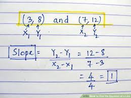 image titled find the equation of a line step 9bullet1