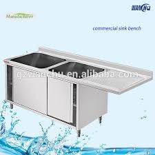 Metal Kitchen Sink Base Cabinet Commercial Stainless Steel Kitchen Sink Cupboard With 2 Bowls