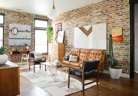 Brick Loft by Loft Living Room And Entryway Vintage Revivals