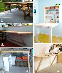 Diy Fold Down Table Diy Cutting Table Ideas For Your Sewing Studio Closet Case Patterns