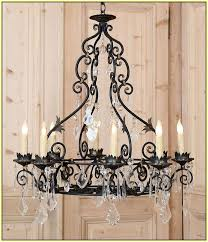 Iron Chandelier With Crystals Wrought Iron Chandeliers With Crystals Home Design Ideas