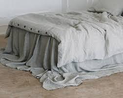 Grey Linen Bedding - stonewashed linen etsy