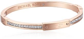 bracelet kors images Michael kors rose gold tone pave hinge bangle bracelet jpg