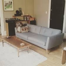 How To Dry Clean A Sofa Emil Gravel Gray Sofa Sofas Article Modern Mid Century And