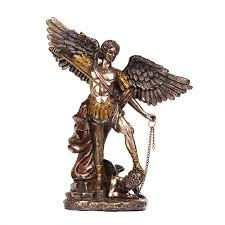 Bronze Home Decor Archangel Michael Christian Statue Christian Art Statue