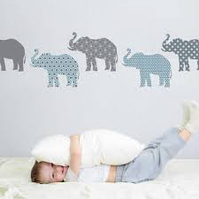 eight patterned gray and baby blue elephant wall decals wall eight patterned gray and baby blue elephant wall decals wall dressed up 1