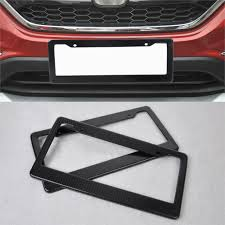 audi q7 front license plate bracket 2pcs universal jdm front rear carbon fiber look usa canada license
