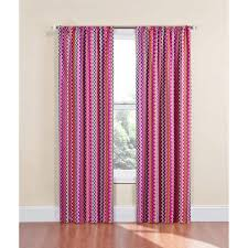 Eclipse Nursery Curtains Eclipse Chevron Thermaback Girls Bedroom Curtain Panel Walmart Com