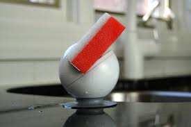 Kitchen Sink Scrubber Holder by Modern Sponge And Scrubber Holder With Suction Grip Base