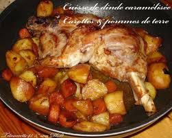 cuisiner une dinde cuisse de dinde caramélisée carottes et pommes de terre les