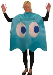 halloween 80s costumes pac man inky ghost costume 80s costumes mega fancy dress