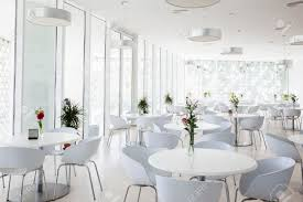 interior of white summer restaurant stock photo picture and