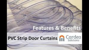 pvc strip door curtains features u0026 benefits youtube