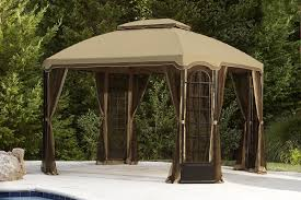 Replacement Awnings For Gazebos Furniture Astounding Screened Gazebos For Garden U2014 Sullivanbandbs Com