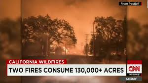 Wildfire Cali by California Fires Claim 600 Homes Threaten Thousands More Cnn Video