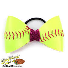 softball hair bows softball hair bow pink sparkle