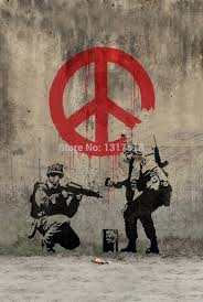 wall stickers peace promotion shop for promotional wall stickers banksy peace art graffiti wall sticker poster home decoration