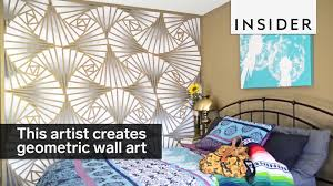 zen of design patterns this artist creates stunning geometric wall designs youtube