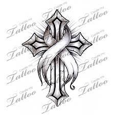 marketplace cancer ribbon cross 16220 createmytattoo com