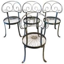 Wrought Iron Chairs For Sale Set Of Fancy Scroll Wrought Iron Chairs For Sale At 1stdibs