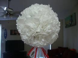 topiary tree wedding centerpiece coffee filter flower