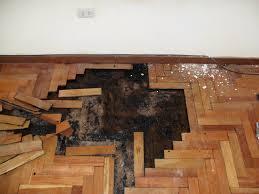 hardwood floor water damage in peru