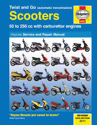 twist and go automatic transmission 50 250cc scooters haynes