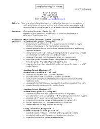 resume for teaching position template resume examples for undergraduate college students best template professional chronological resume template resume sample doc example of chronological resume