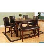 Triangle Dining Table Best Quality D876 Dark Cherry Counter Height Triangle Dining Table