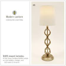 cordless lamps by modern lantern by stephen u0026 carrie fitzwater