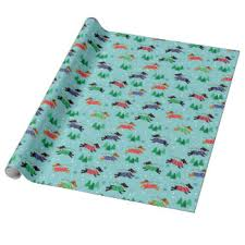 dachshund christmas wrapping paper dog wrapping paper zazzle