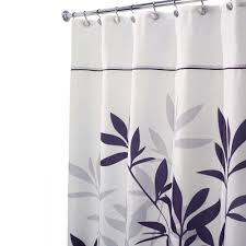 Shower Curtain Interdesign Leaves Stall Size Shower Curtain In Black And Gray