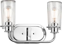 kichler 45458ch braelyn contemporary chrome 2 light bathroom