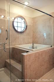 bathrooms design corner bathtub shower combo small bathroom long