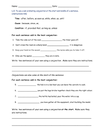 subordinating conjunctions by bethrob teaching resources tes
