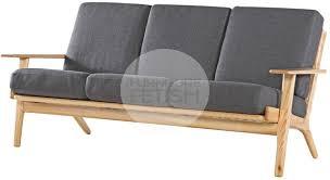 hans wegner plank sofa replica hans wegner plank chair 3 seater sofa ash charcoal