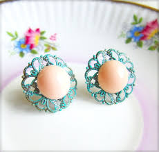 turquoise bridal earrings 166 best coral and turquoise wedding images on coral