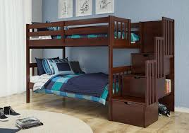 LOWEST PRICE Donco Kids TwinTwin Mission Staiway Bunk Bed - Donco bunk beds