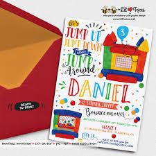 bounce house birthday invitations printable invitation