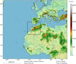 Africa Climate Map by Wise Web Based Information Services For The Environment Casablanca