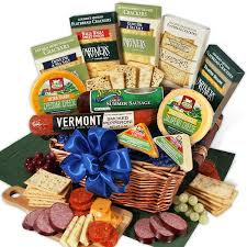 cheese gift baskets gourmet meat cheese sler deluxe by gourmetgiftbaskets