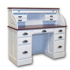 Small Roll Top Computer Desk White Roll Top Desk Solid Wood 7 Drawer White Roll Top Desk