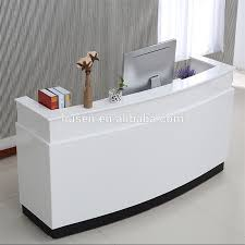 office reception desk for sale high class low price mdf office furniture white modern office
