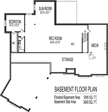 basement garage house plans 1 story house plans with basement home plan blueprints angled canted
