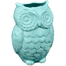 amazon com mygift aqua blue owl design ceramic cooking utensil