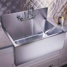 kitchen sink with backsplash culinary gourmet stainless steel kitchen sinks