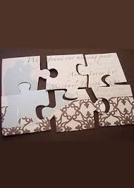 ausgefallene einladungen hochzeit puzzle als einladung ausgefallene einladungen ideensammlung