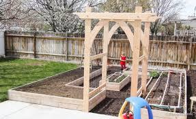 wedding arches building plans vegetable garden arbor diy plans