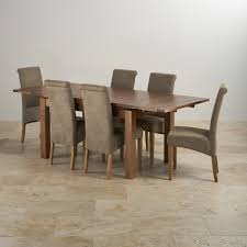 oak dining room set beautiful dining table and fabric chairs rustic oak ft with grey